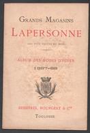1887 GRANDS MAGASINS LAPERSONNE TOULOUSE / ALBUM DES MODES D'HIVER Z1 - Otros