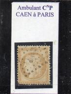 Calvados - N° 55 Obl Griffe Ambulant CnP Caen à Paris - 1871-1875 Cérès