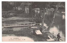 78 - POISSY - Les Bords De La Seine - CM 11 - (Pêcheurs) - Poissy