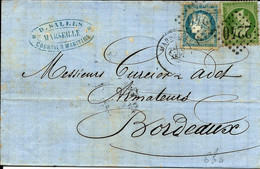 France, De Marseille  7 Septembre 1871,  Mixte  Ceres Napoleon   TB - 1849-1876: Periodo Classico