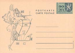 LIECHTENSTEIN - POSTKARTE 30 Auf 20 RAPPEN 1973 MNH Mi #P65 /QC56 - Postwaardestukken