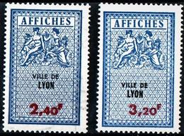 LYON  2,40F* Et 3,20F*  TAXES D'AFFICHAGE  FISCAL  FISCAUX  AFFICHE  REVENUE - Fiscale Zegels