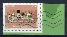 """France, """"Vivre Ensemble"""", 2020, Obl, TB issu Du Bloc De 4 """"La Terre Et Les Hommes"""" - Used Stamps"""