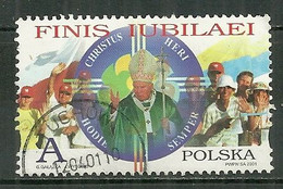 POLAND Oblitéré 3646 Année Sainte 2000 Pape Jean Paul Ii - Usati