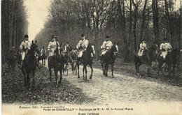 Foret De CHANTILLY  Equipage De S.A.M. Le Prince Murat Avant L'attaque RV - Chantilly
