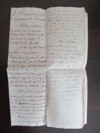 Grand Parchemin + Papier Timbre - Pétition Auprès Du Préfet De L'Hérault - Non-daté - Manuscripts
