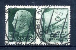 1942 REGNO Propaganda Di Guerra N.2 USATO 25 Centesimi Verde ESERCITO - Oorlogspropaganda
