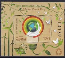 SERBIA 2021,PLANET EARTH DAY,BLOCK,MNH - Serbia