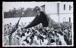 LIBIA - LYBIA - LYBIE - 1938 - FESTA IN OCCASIONE DELLA VENUTA DI SUA MAESTA' IL RE - FOTOCARTOLINA UNICA! - Libye