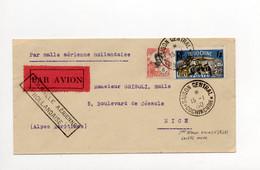 !!! LETTRE PAR AVION DE SAIGON POUR NICE DU 15/1/1930 PAR MALLE AERIENNE HOLLANDAISE - Brieven En Documenten