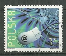 POLAND Oblitéré 3648 Internet, Composition Avec Une Souris D'ordinateur - Usati