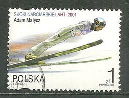 POLAND Oblitéré 3649 Adam Malysz Champion Du Monde De Saut à Ski - Usati