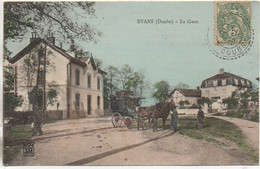25 BYANS  La Gare (carte Peu Courante) - Other Municipalities