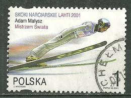 POLAND Oblitéré 3650 Adam Malysz Champion Du Monde De Saut à Ski - Usati