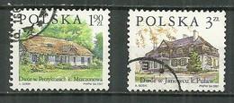 POLAND Oblitéré 3651-3652 Architecture Maison Petrykozy Janowiec - Usati