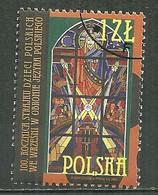 POLAND Oblitéré 3659 Vitrail De L'église De Wrzessaia, Christ Bénissant Les Enfants Wrzesnia - Usati