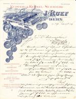 1896 J. Ruef. Kupfer- X Kessel-Schmiede, Einrichtungen Für Küchen, Käsereien, Brennereien Usw. Offerte. Bern - Switzerland