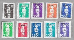 R12 - Mayotte 32/41**MNH De 1997 Marianne Du Bicentenaire . ( Sous La Faciale 4,26€ ) - Ungebraucht