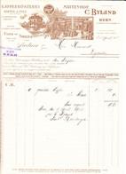 1908 C. Byland, Bern, Mattenhof. Kaffeerösterei. Kaffee Und Tee Engros. Rechnung Für 10 Kg Gerösteter Kaffee - Switzerland