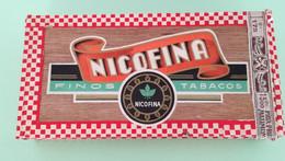 50 Cigarillos Selectas NICOFINA Houten Kist Voor Sigaren Boïte En Bois Pour Cigares 18,5 X 9 X 3,2 Cm Tax Sie 175 - Scatola Di Sigari (vuote)