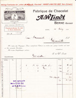 1911 A. & W. Lindt, Fabrique De Chocolat In Bern, Rechnung - Switzerland