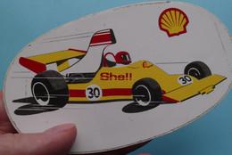 SHELL ( 30 ) > Sticker / Zelfklever / Autocollant ( Zie Foto ) 12 X 7 Cm. ( 1 Stuk )! - Adesivi