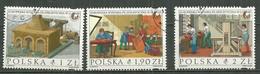 POLAND Oblitéré 3678-3680 Exposition Philatélique à Lublin Four Du Cuivre Eau Atelier De Gravure Presse - Usati
