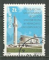 POLAND Oblitéré 3677 Sanctuaire De La Miséricorde De Dieu Lagiewniki Cracovie - Usati