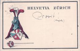 Carte Etudiant, Helvetia Zürich, Litho (15.8.26) Pli D'angle - Schools
