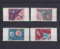 CONGO 1967, Mi# 134-137, Imperf, Space, Satellite, MNH - Collections