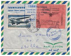 """VIGNETTE AÉRIENNE SPÉCIALE """" TRANSGABON / PAR AVION / COURRIER REMIS AU PILOTE """" Sur LETTRE De LIBREVILLE GABON 1963 - Lettres & Documents"""