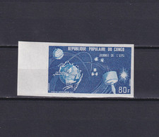 CONGO 1973, Mi# 397, Imperf, Space, Satellite, UPU, MNH - Collections