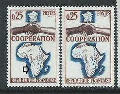 [47] Variété : N° 1432 Coopération Relief Sud Africain Absent + Normal ** - Varietà: 1960-69 Nuovi