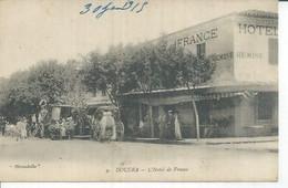 9 - DOUERA - L'HOTEL DE FRANCE (  Animées  ) ALGERIE - Autres Villes