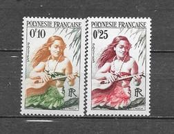 1958 Polynesie Française  Y&T Nr° 1,2 (**) - Zonder Classificatie