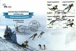 Turkey 2014 FDC  Winter OLYMPIC GAMES Sochi Jeux Olympic JO OG - Invierno 2014: Sotchi