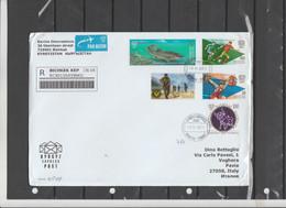 Kirghizstan 2021 -  Busta Racc. X L'Italia Affrancata Con 5 Stamps - Kyrgyzstan