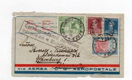 !!! ACCIDENT DE NATAL DU 28/7/1929, LETTRE DE BUENOS AIRES GRIFFE CORRESP AERIENNE OUVERTE EN MAURITANIE. RR - Crash Post