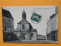 GIEN (Loiret) -- Eglise Saint-Louis - Boulangerie - Armurerie Martinaud - Magasin Nouveautés - ANIMEE - Gien