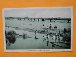 GIEN (Loiret) -- La Plage Et Les Cabines - ANIMEE - Gien