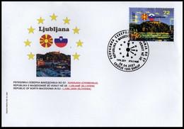 MACEDONIA NORTH 2021  MACEDONIA IN EU LJUBLJANA SLOVENIA FDC - Macedonia