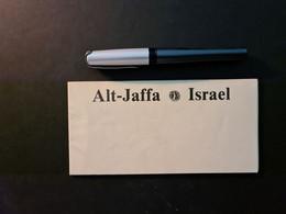 Israel, Faltplan Alt-Jaffa - Non Classificati