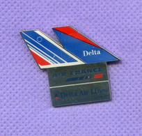 Rare Pins Air France Delta Air Lines R165 - Aviones