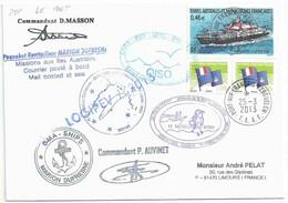 YT 330 Navire Ravitailleur Marion Dufresne - Posté à Bord Du MD - Port Aux Français - Kerguelen - 25/03/2013 - Lettres & Documents