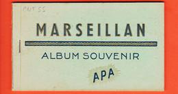 X34047 ⭐ MARSEILLAN (2) Album Souvenir 10 CPA Souvenir-Bigue-Mairie-Esplanade-Phare Canal-Port (3)-Retour Pêche-Clocher - Marseillan