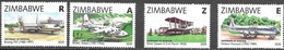 ZIMBABWE, 2020, MNH, CENTENARY OF AVIATION IN ZIMBABWE, PLANES, BRIDGES, WATERFALLS, 4v - Vliegtuigen