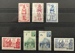 GUINÉE 1941 - NEUF**/MNH - 3 Séries Complètes YT 151 / 152 + 169 / 171 + 176 / 177 - LUXE - RARE CV 13 EUR - Unused Stamps