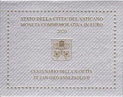 """Vaticano - 2 € Commemorativi 2020 - """"100° Anniv. Nascita Papa Giovanni Paolo II"""" - Vatican"""