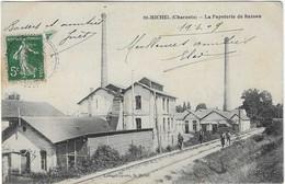 16 CHARENTE SAINT MICHEL PAPETERIE BASSEAU 1909 ANIMATION  JOLI PLAN - Sonstige Gemeinden
