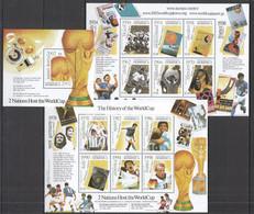 H105 DOMINICA SPORT FOOTBALL THE HISTORY OF THE WORLD CUP !!! 2KB+1BL MNH - 2002 – Corea Del Sur / Japón